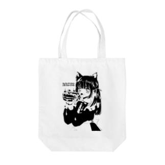 萌えケーキ Tote bags