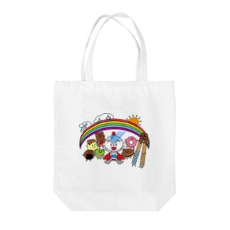 ユーミーマンとお菓子な仲間たち Tote bags
