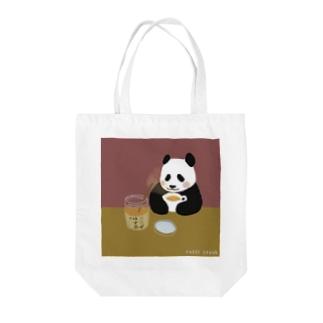 ゆず茶パンダ Tote bags