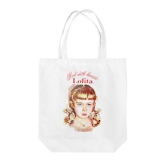Lolita girl Tote bags