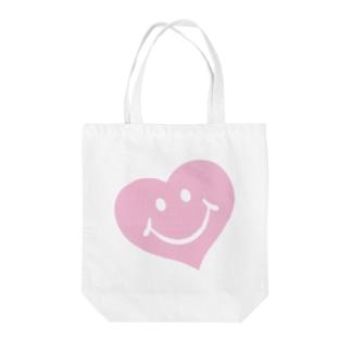 スマイルハート♡ Tote bags