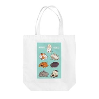 クモネコ Tote bags
