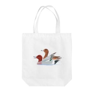 ヒドリガモ Tote bags