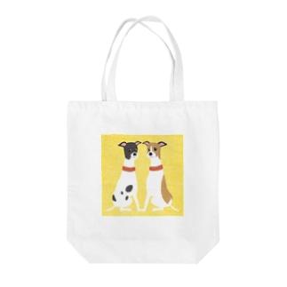 ema-emama『ウィペット』 Tote bags