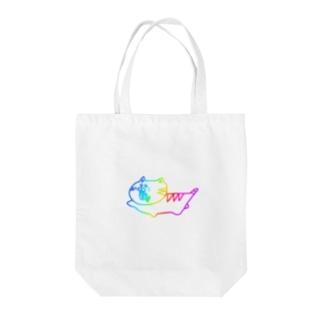 222ニジ猫(レインボーVer.) Tote bags