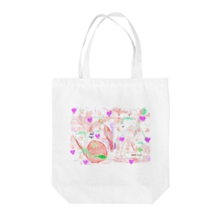 LOVE time Tote bags