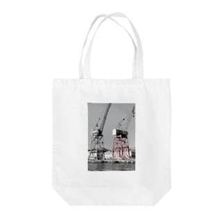 ガントリークレーン Tote bags