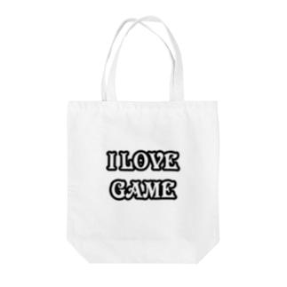 ゲーム好きです Tote bags