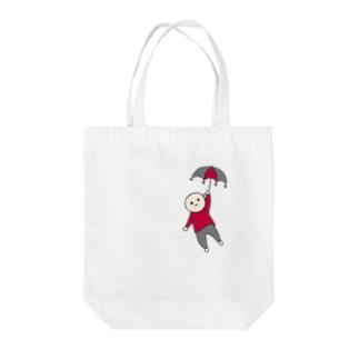 お空を漂う/赤 Tote bags