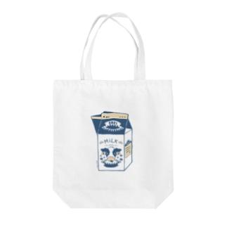 丑年ミルク Tote bags