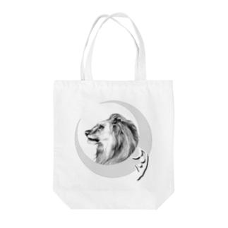 月獅子 tattooバージョン Tote bags