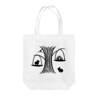 白黒木兎g Tote bags