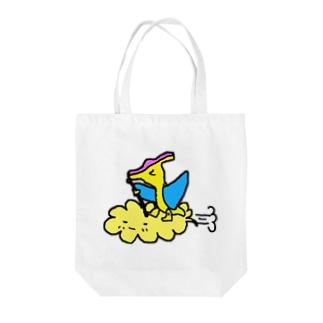 筋斗雲プテラノドンくん Tote bags