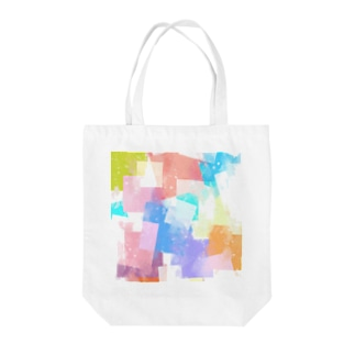 プリズムカラー Tote bags