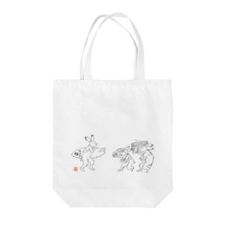 超獣★GIGA サーフサイド Tote bags