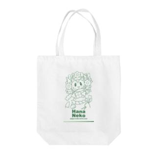 Hana Neko Tote bags