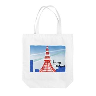 love:東京タワー Tote bags