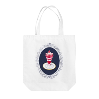Strawberry parfait Tote bags