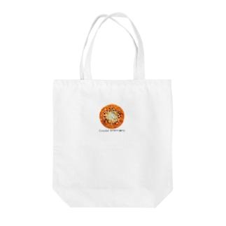 密な刺繍、橙 Tote bags