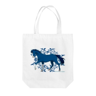 BLUE HORSE Tote bags