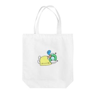 仮眠ライダー(イエロー) Tote bags