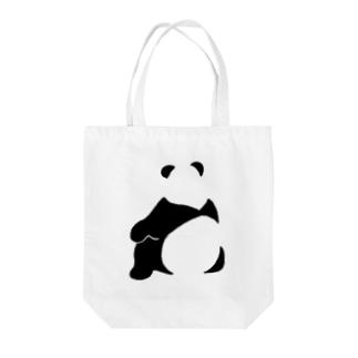 パンダ(せなか) Tote bags