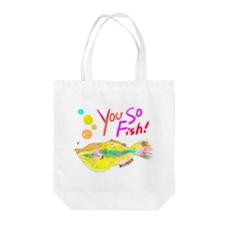 You So Fish Tote bags