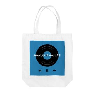 NO MUSIC NO LIFE  Tote bags