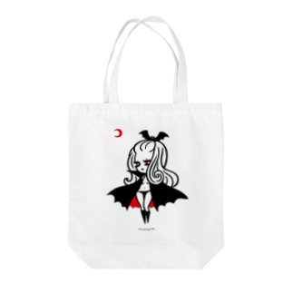 月夜のヴァンパイアガール - ライトカラー向け Tote bags