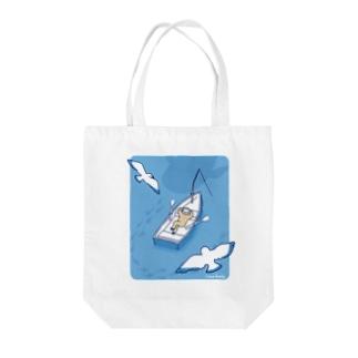 ナマケボート Tote bags