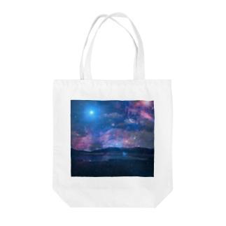 銀河湿原 Tote bags