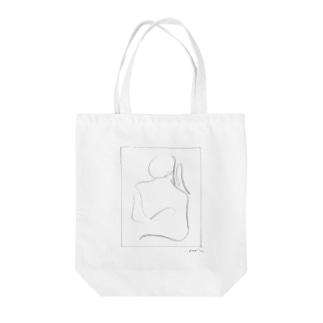 丸顔の女 Tote bags