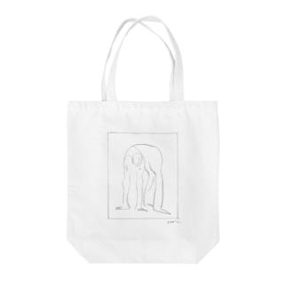 ブリッジする女 Tote bags