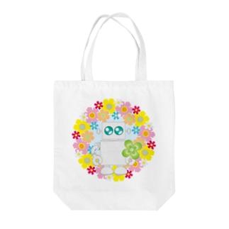まるちの花輪ロボット Tote bags