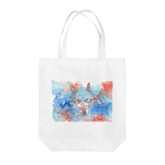 May wolf with glasses Tote bags