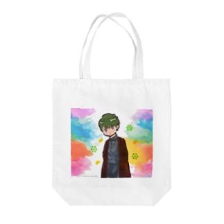 緑髪の男子トート Tote bags