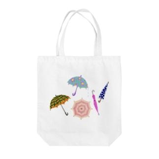 傘いろいろ Tote bags