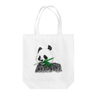 おかわりパンダ Tote bags