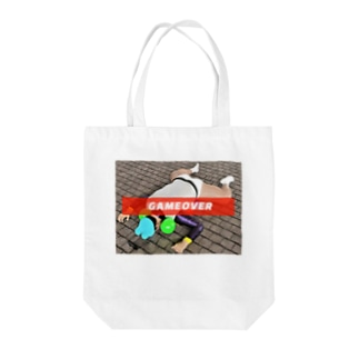 GAME OVER J Tote bags
