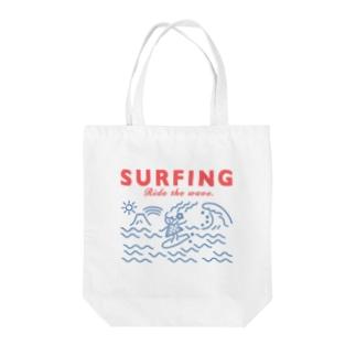 シンプルサーフィン トートバッグ Tote bags