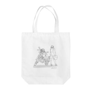 バイクと Tote bags