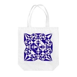 黒塚アキラ│本業×副業逆転目標🎶の青・模様 Tote bags