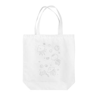 あちゃクラゲ-グレー Tote Bag