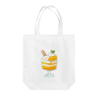 榎木ゆきのにくらしいマンゴーパフェ Tote bags