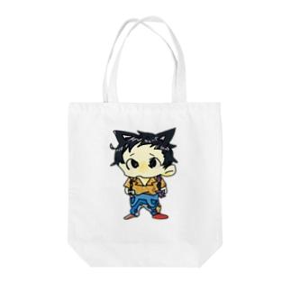 ヂンヂンくん Tote bags