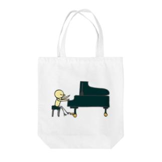 ひよこグランドピアノ Tote bags