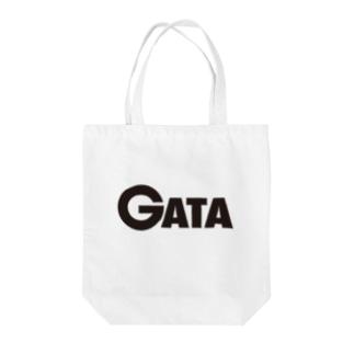 GATAロゴ【黒】 Tote bags