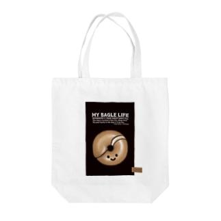 10点限定|もち麦亭ベーグルバッグ-黒 Tote Bag
