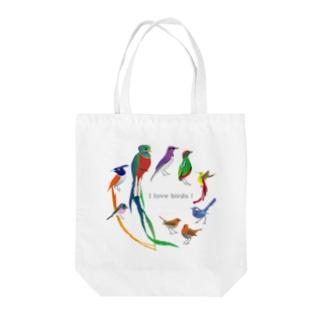 I love birds E Tote Bag