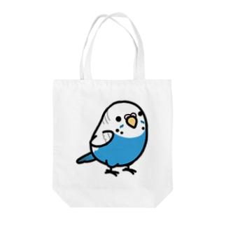 Chubby Bird セキセイインコ ブルー 女の子 Tote bags